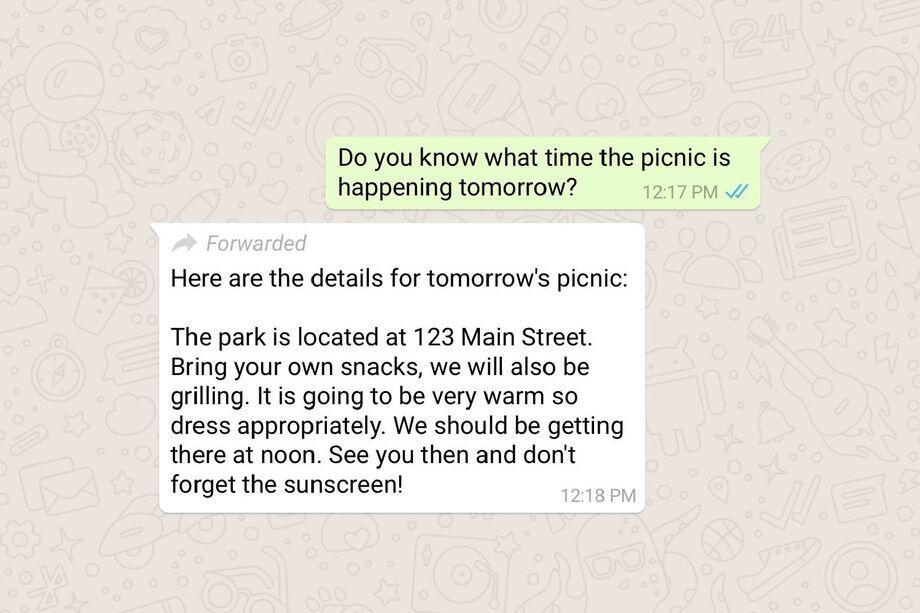 WhatsApp Akan Memberi Tanda Pada Pesan yang Diteruskan