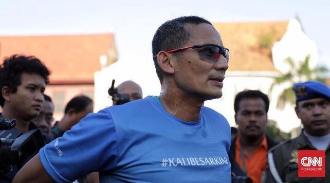 Sandiaga Uno Sindir Jokowi Tak Berani Umumkan Nama Cawapres