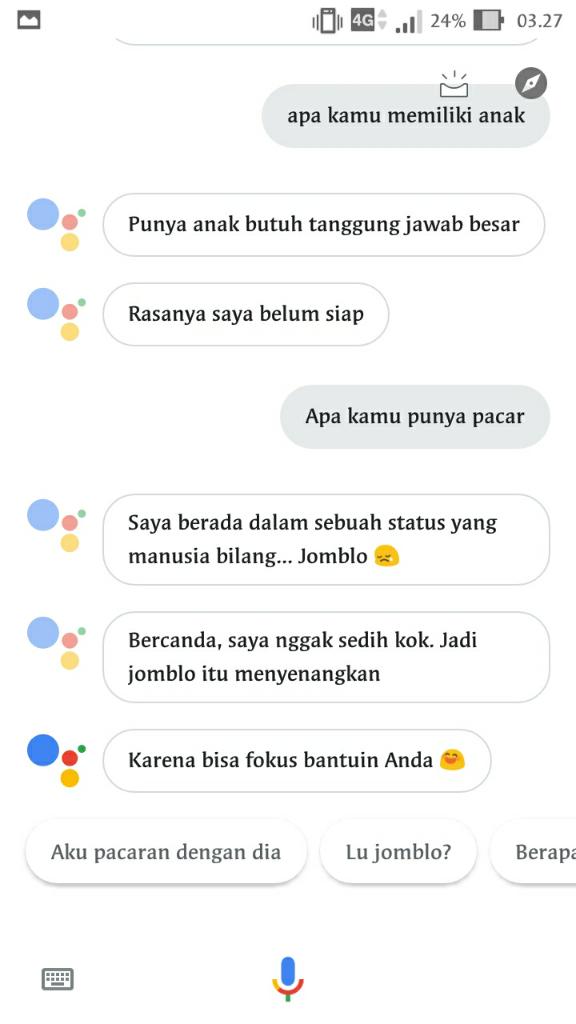 Tak Hanya Sebagai Mesin Pencari Google Juga Bisa Di Ajak Ngobrol, Jomblo Wajib Coba
