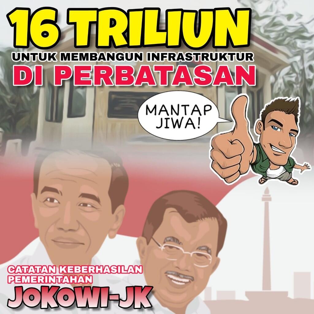 Pemerintahan Presiden Jokowi Bangun Infrastruktur di Perbatasan RI