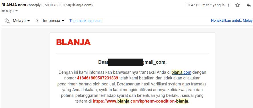 Kecewa Blanja.com