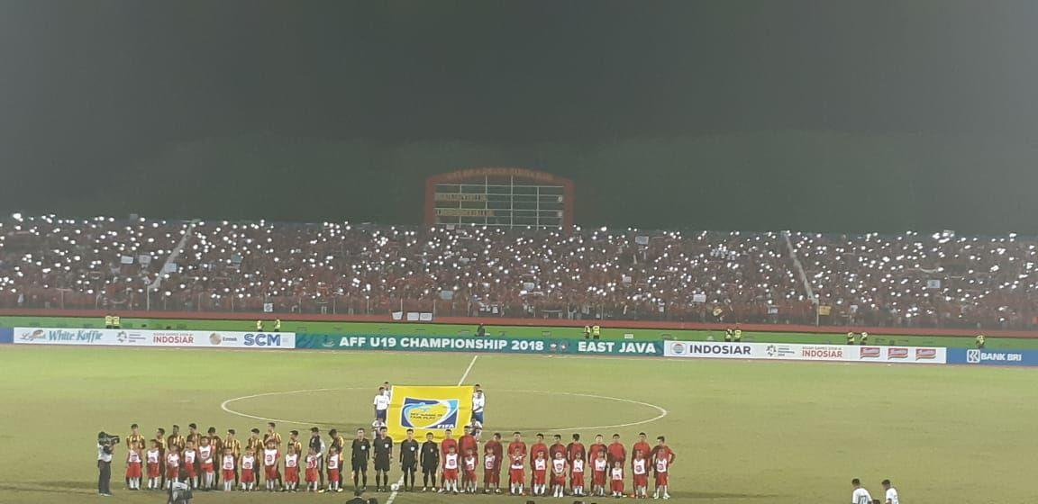 Egy Cetak Gol Cepat, Babak Pertama Indonesia vs Malaysia Imbang