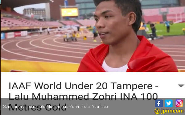 Raih medali emas lomba lari, Lalu Muhammad Zohri ditawarkan jadi prajurit TNI