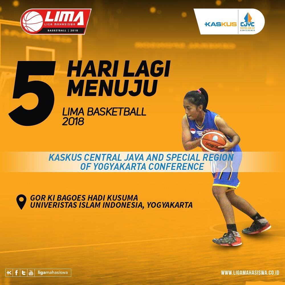 Lima hari lagi, LIMA Basketball: Kaskus CJYC 2018