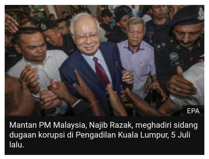 Pejabat Malaysia klaim 'proyek cuci uang' mantan PM Najib Razak melibatkan Cina