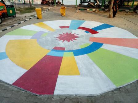 Kantor Kelurahan Pulau Kelapa Dihiasi Mural Asian Games