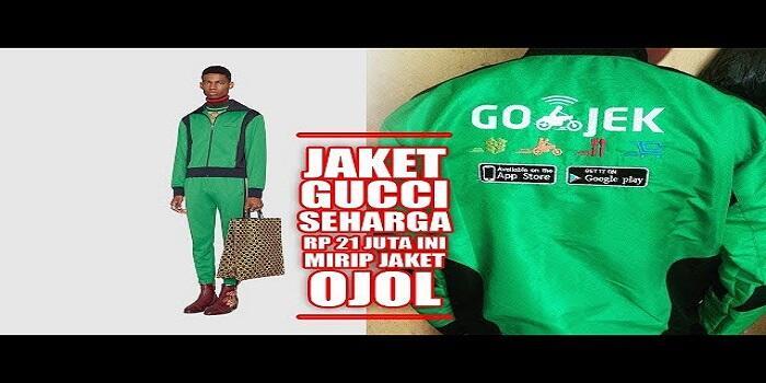 Gokil! Dibandrol 21 Juta Jaket Keluaran Gucci Ini Mirip Dengan Ojol