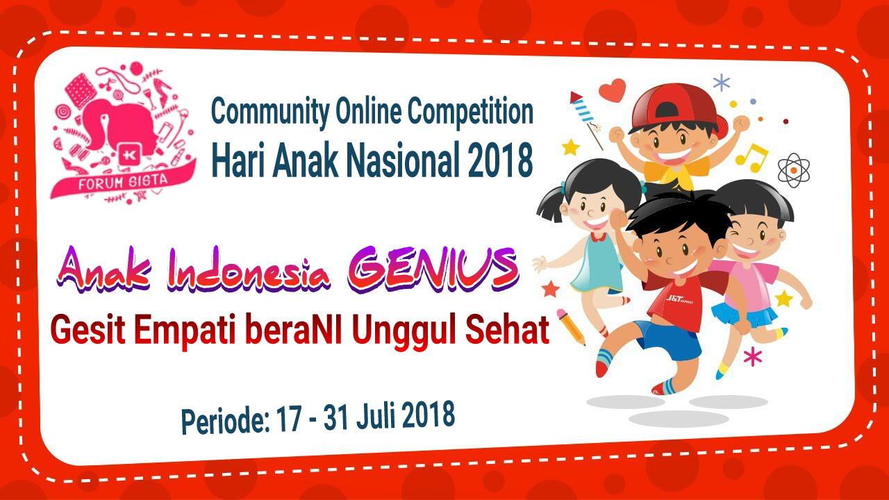 Cerdas Cermat Hari Anak Nasional 2018 : Anak Indonesia GENIUS!