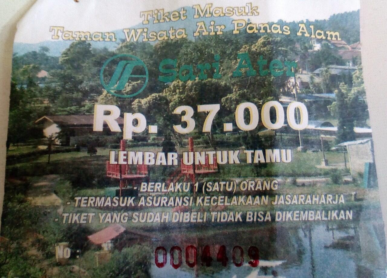 Tiket Masuk Taman Wisata Air Panas Alam Sari Ater Ciater, Subang