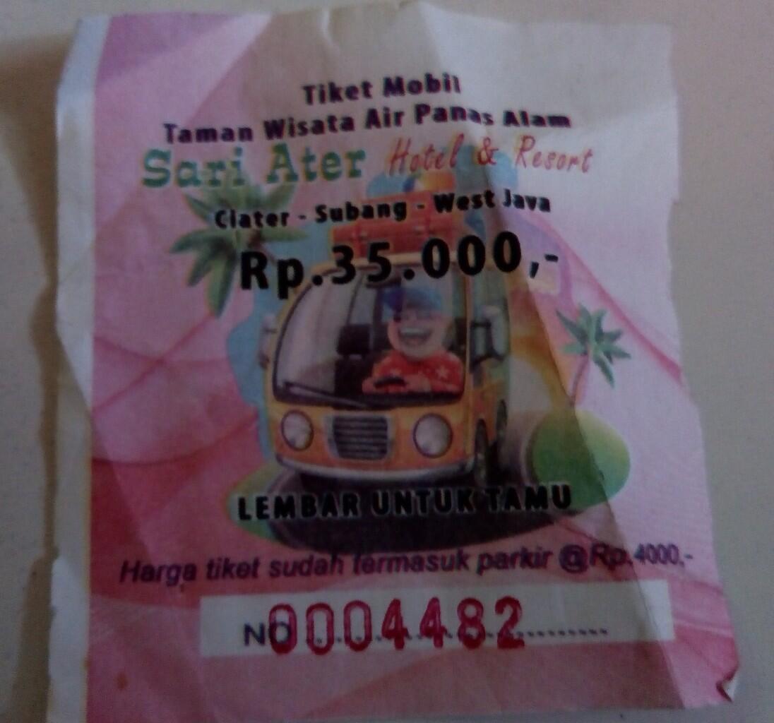 Tiket Masuk Taman Wisata Air Panas Alam Sari Ater Ciater Subang
