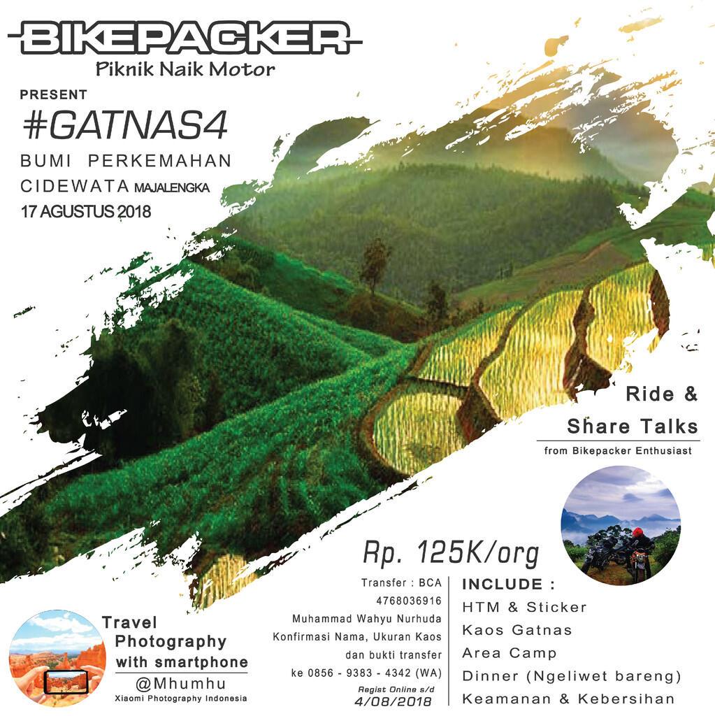 [Event Tahunan] BIKEPACKER - Piknik Naik Motor #GATNSA4