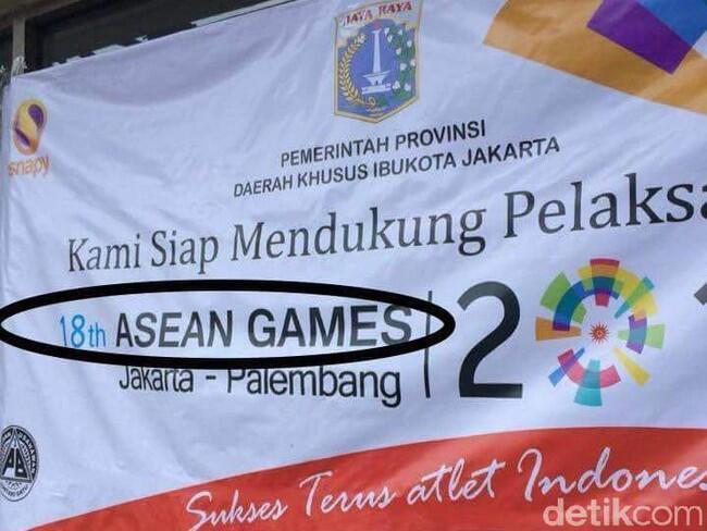Viral Spanduk Asian Games Salah Tulis Jadi 'Asean', Ini Kata Inasgoc