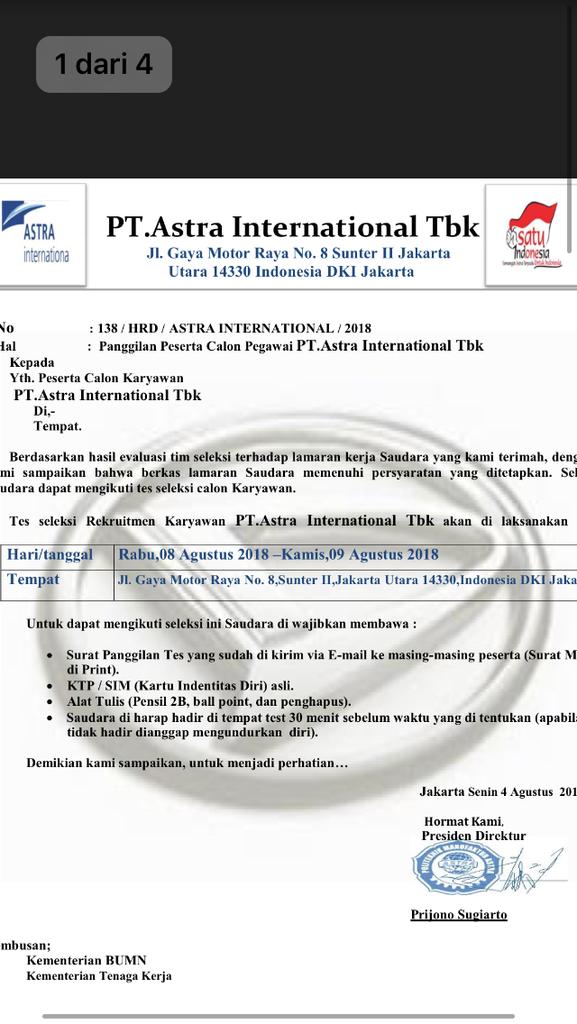PENIPUAN ASTRA INTERNATIONAL Tbk