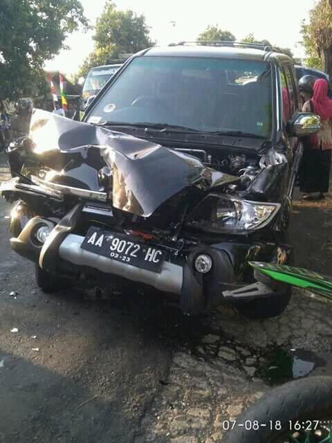 kecelakaan dikampung TS