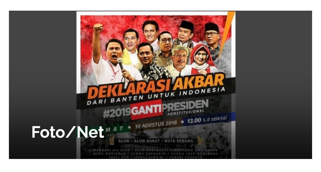 Ada Lagi Nih Yang Menolak Deklarasi #2019GantiPresiden Di Banten