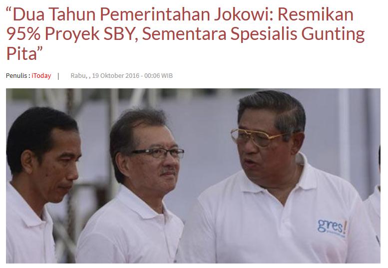 (Menohoq) RPJM SBY Disebut Sulitkan Pemerintahan Jokowi, Ini Respon PD