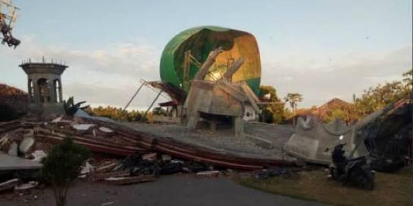 Gempa Lombok, 3 Saf Jemaah Salat Isya Masih Terperangkap di Masjid