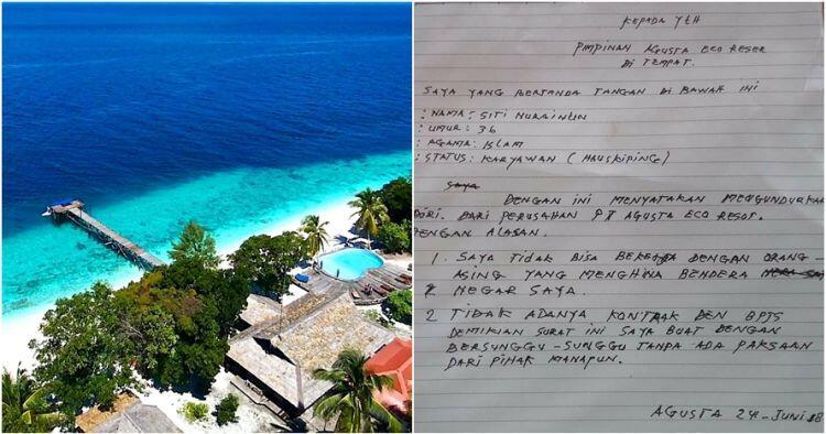 Resort Raja Ampat Tolak Pemasangan Bendera Merah Putih, Pegawai Ini Resign