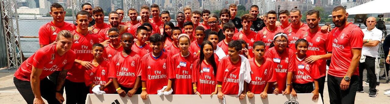 Real Madrid perkenalkan jersey ketiga musim 2018/19 di New York