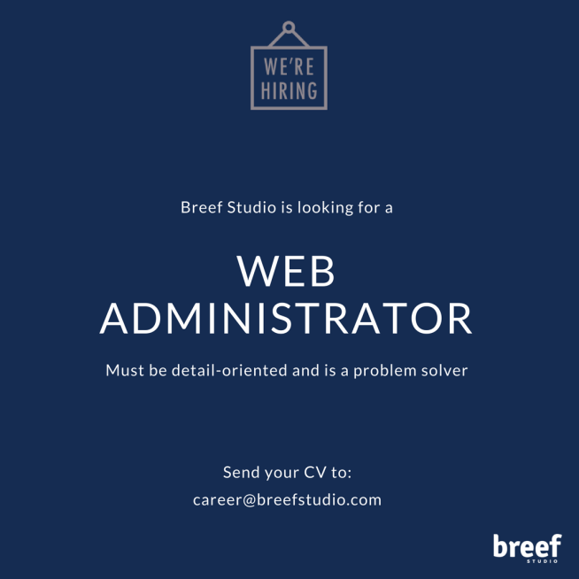 [JAKARTA BARAT] Dicari Web Administrator Lulusan IT SMK,