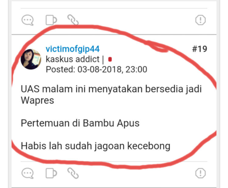 Ustaz Abdul Somad Menolak Jadi Cawapres