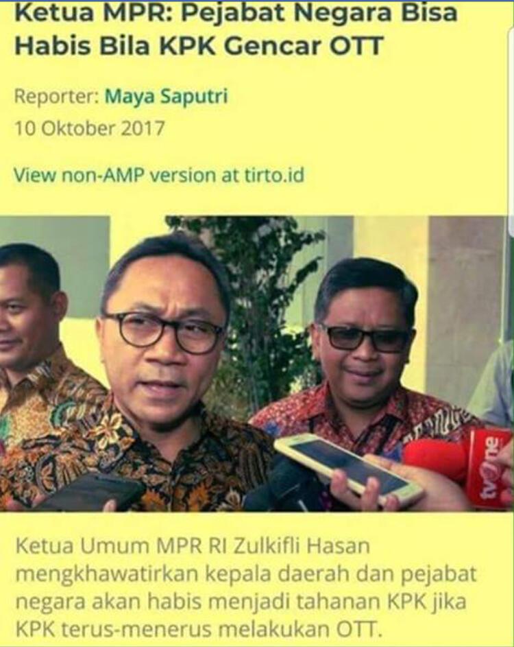 DPW PAN se-Indonesia Dukung Zulkifli Hasan Cawapres Prabowo