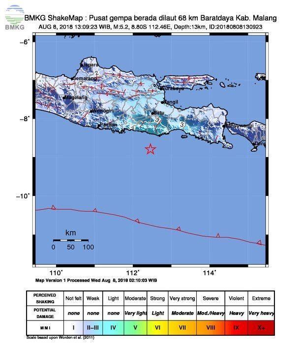 Gempa 5,1 SR Guncang Malang, Begini Penjelasan BMKG