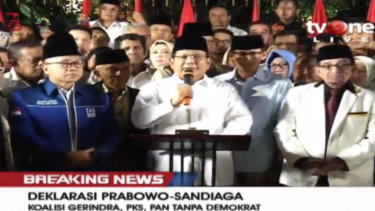 Breaking News: Prabowo uno - Sadiaga uno resmi jadi capres cawapres 2019