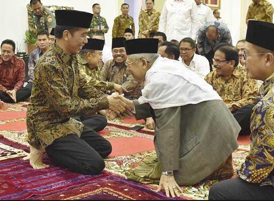 Jokowi Yakin KH Ma'ruf Amin Bisa Dongkrak Suara di Pilpres 2019