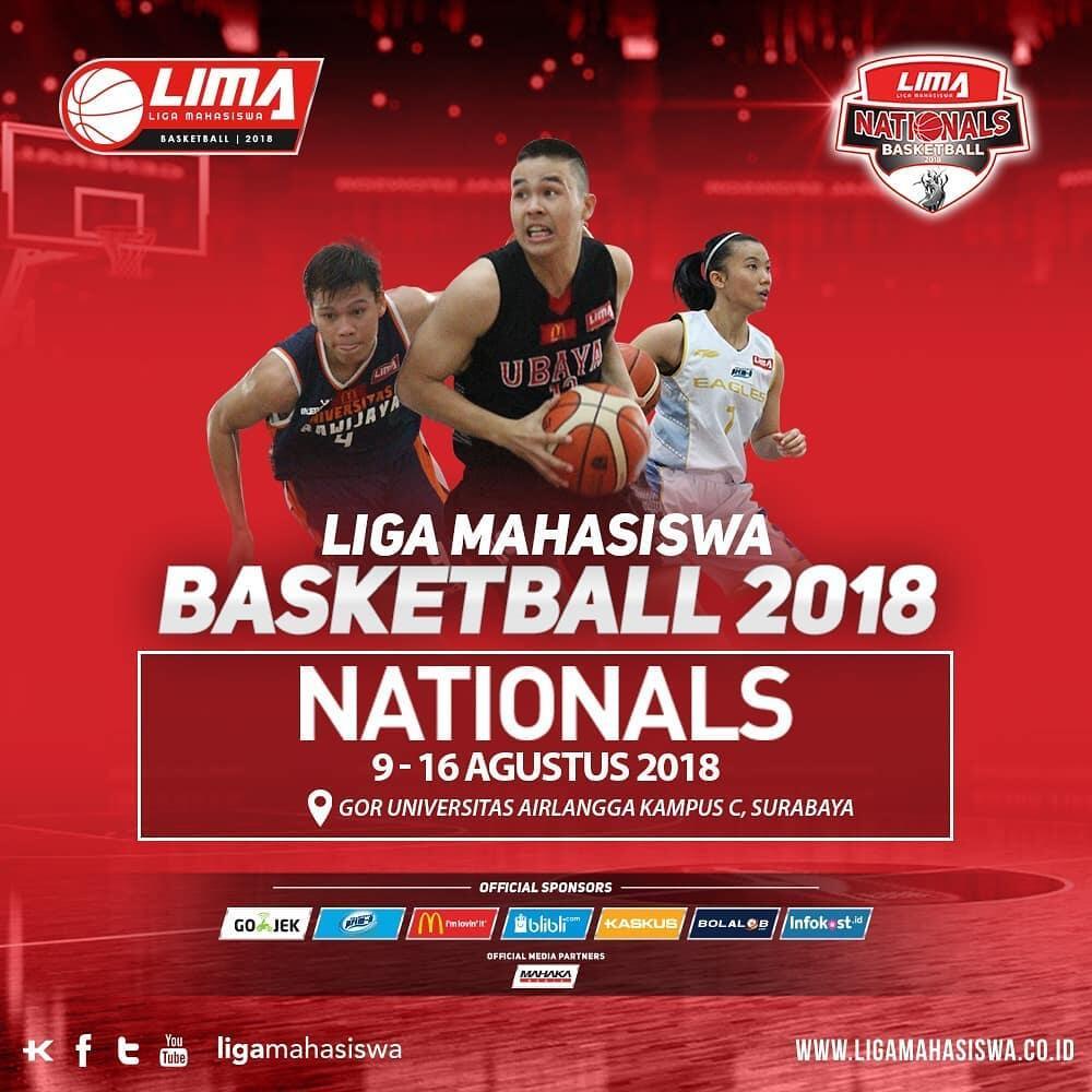 20 Tim Terbaik Siap Hadapi LIMA Basketball Nationals 2018