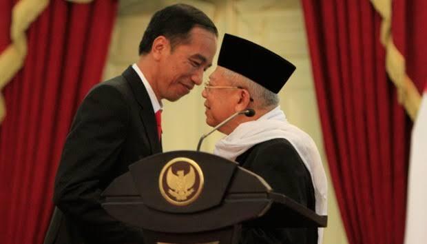 Jokowi Deklarasi Ma'ruf Amin Jadi Cawapres
