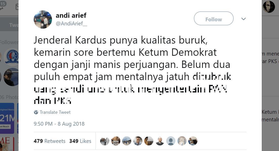 """5 Reaksi Kocak Warganet soal Tweet """"Jenderal Kardus"""""""