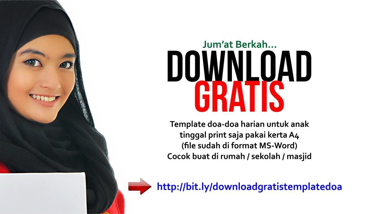 Download Gratis Siap Print Template Doa Harian untuk di Rumah, Sekolah atau Masjid