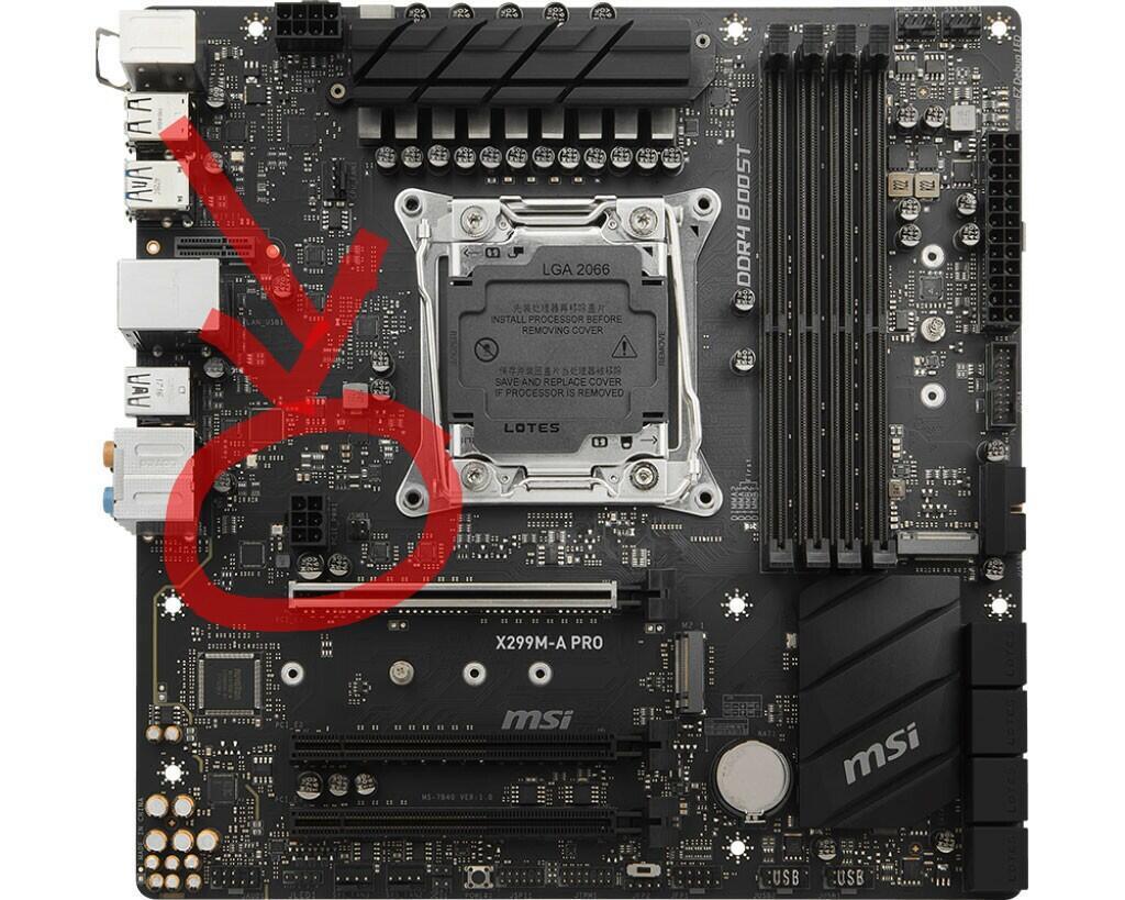 Socket PCI-E Power pada motherboard