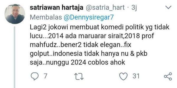 Jokowi pilih Ma'ruf Amin Cawapres, Banyak Ahokers Kecewa
