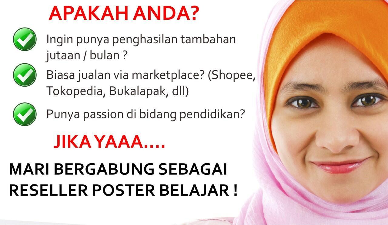 Bisnis Online Terbaik = Poster Belajar + Marketplace