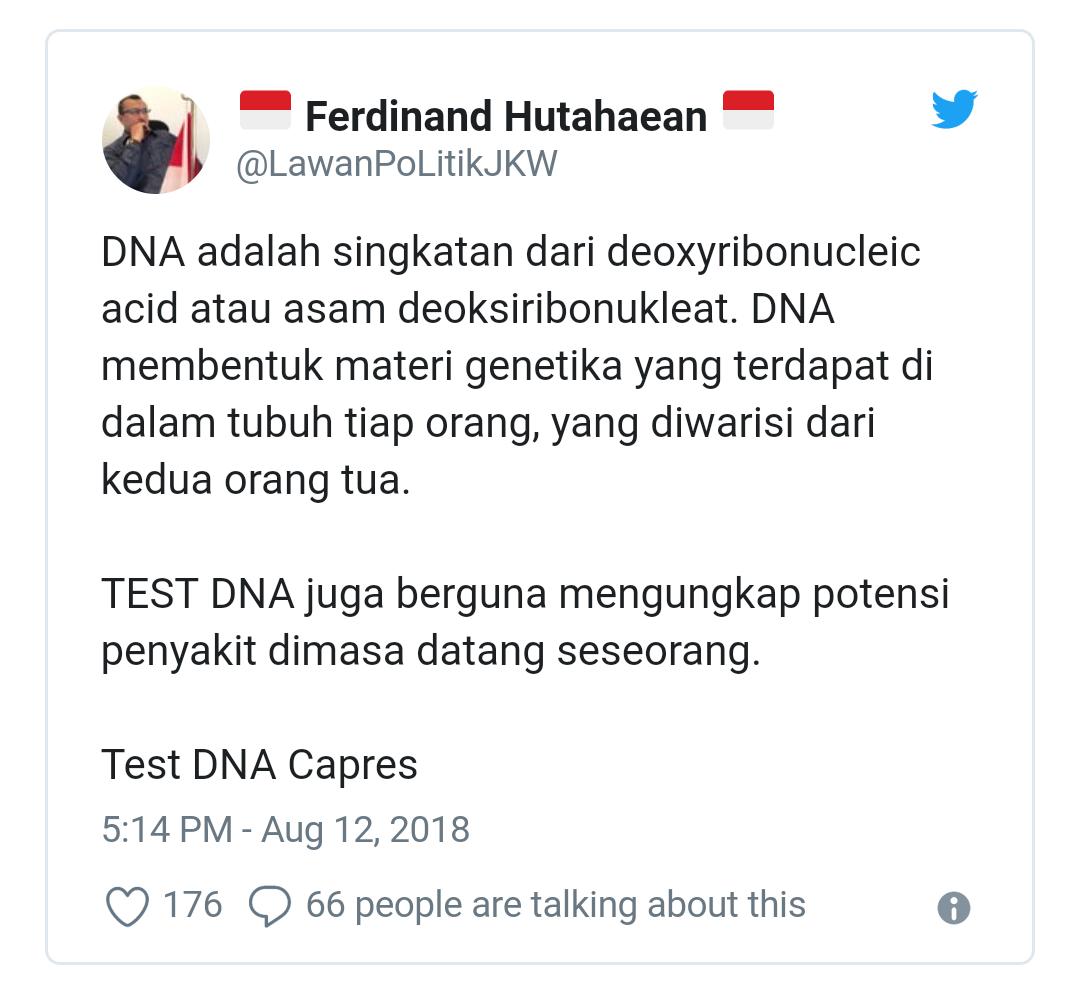 Politikus Demokrat Ingin Ada Tes DNA di Tes Kesehatan Capres
