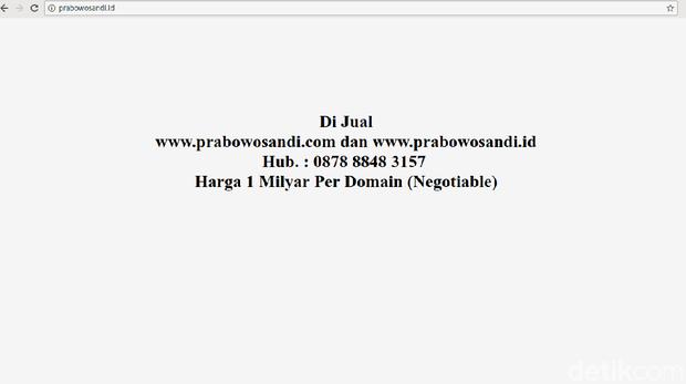 Prabowo dan Jokowi Bisa Lapor Ada Situs Harga Selangit