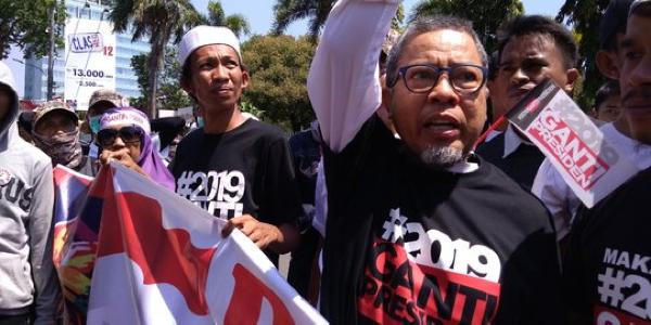 Orator deklarasi 2019GantiPresiden teriak PKI usai sebut nama Jokowi