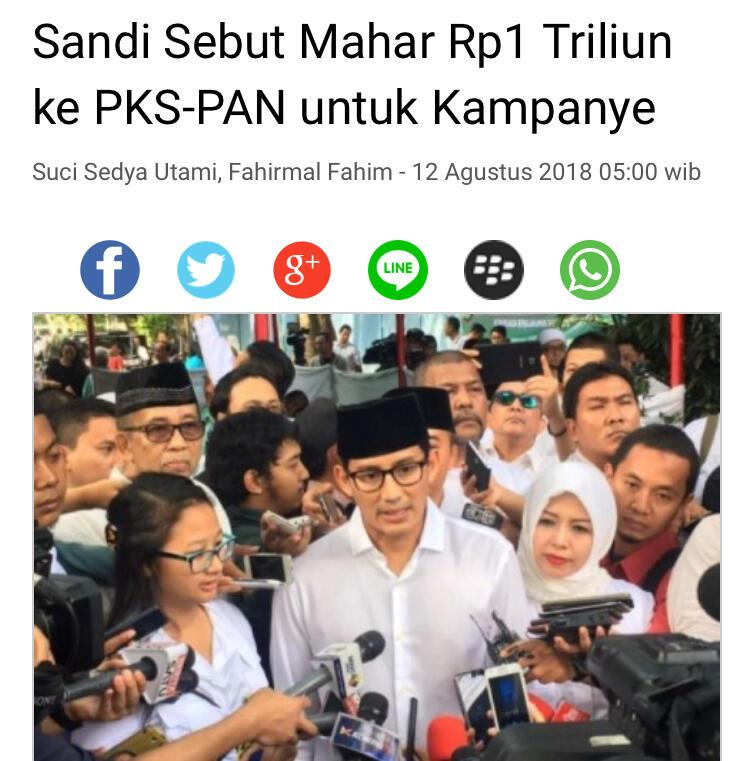 Di depan Sandiaga, Puluhan Pelari Teriak Dukungan untuk Jokowi