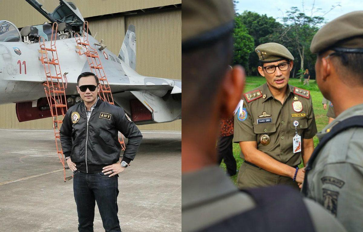 11 Adu Style Politisi Gagah, Agus Yudhoyono vs Sandiaga Uno
