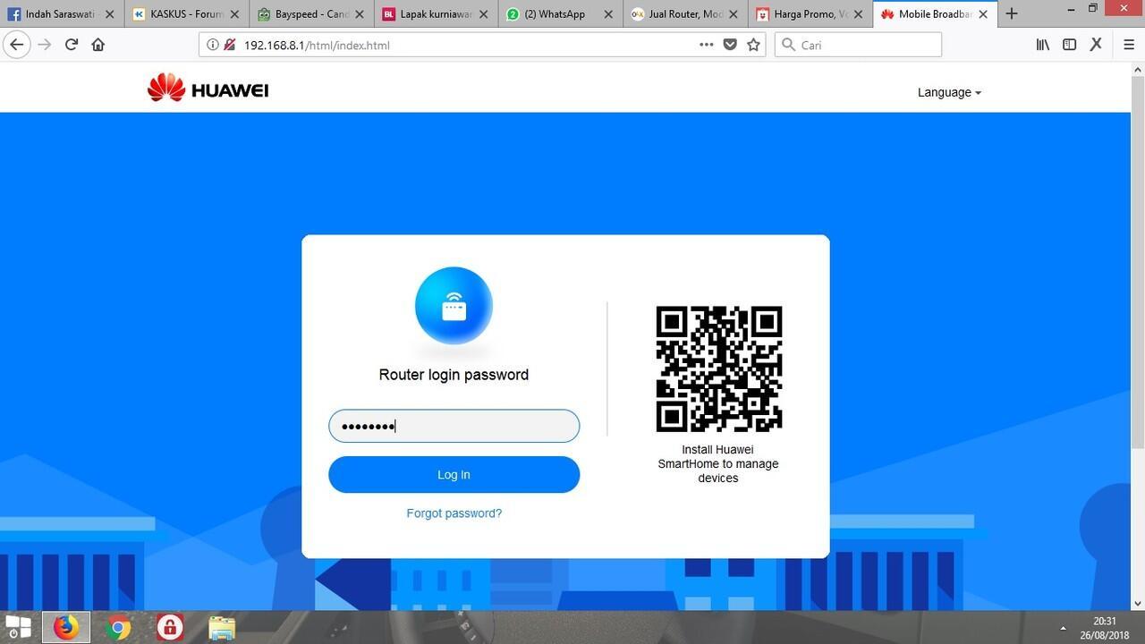 Modem Router Huawei B311 Unlock 4g Lte Jaringan Lengkap Dan B310 Garansi Resmi Review Dashboard Baru