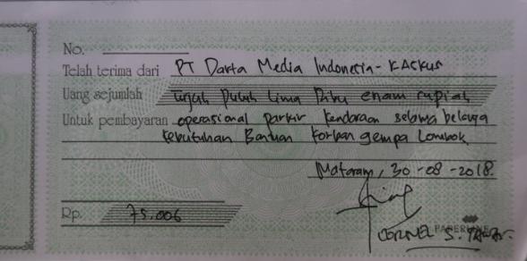 [FR] KASKUS Serahkan Langsung Donasi untuk Korban Gempa Lombok