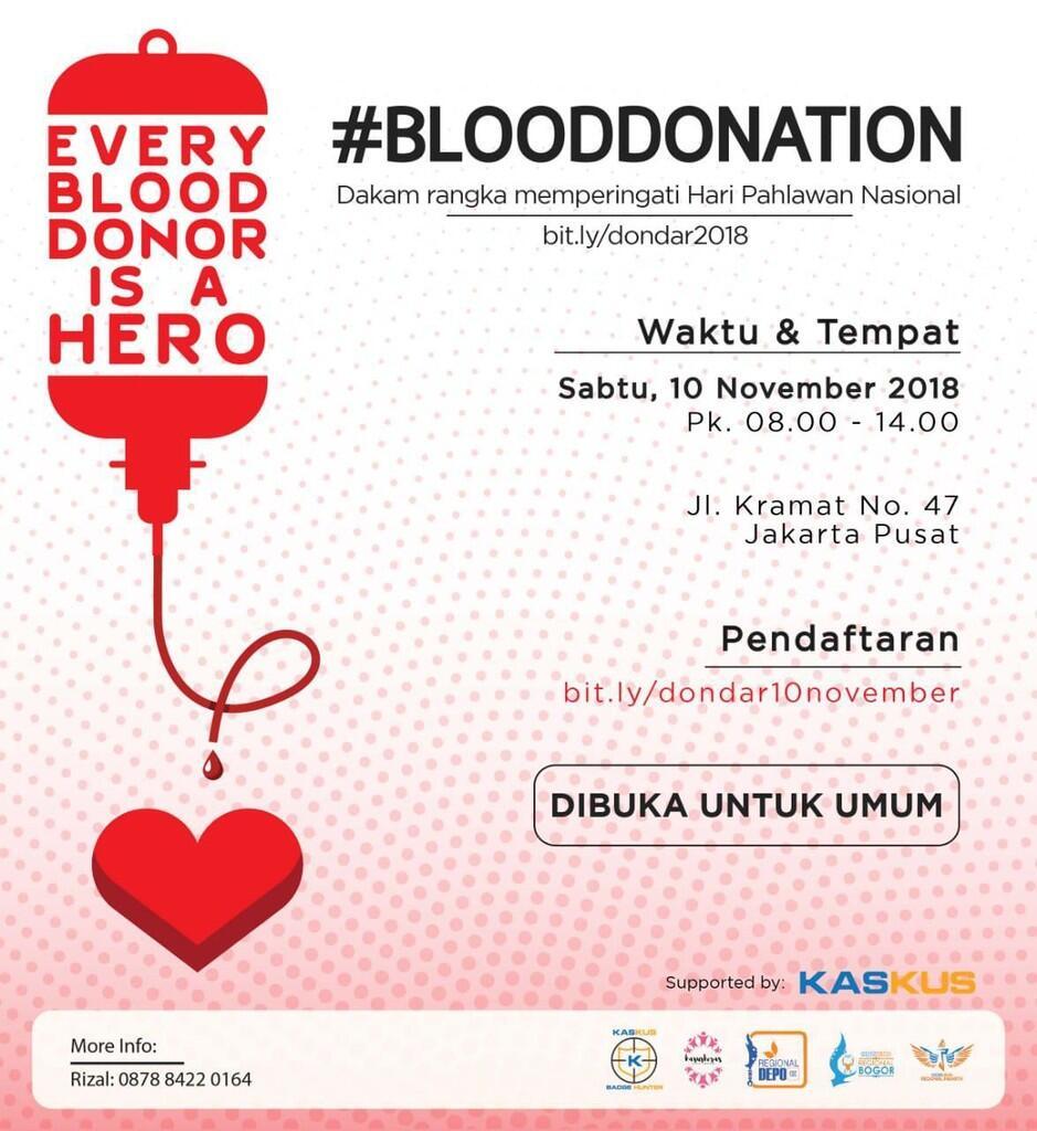 INVITATION] Donor Darah dalam Rangka Hari Pahlawan Nasional 2018