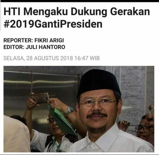 Jawab Tudingan Berada di Balik #2019GantiPresiden, HTI: Ini Fitnah