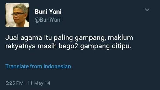 Djoko Santoso Nilai Buni Yani Cocok di Tim Medsos Prabowo-Sandi