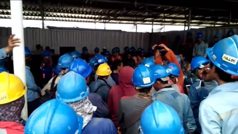 Gaduh, TKA Diduga Pukul Pekerja Lokal di Proyek PLTU Jawa VII di Serang