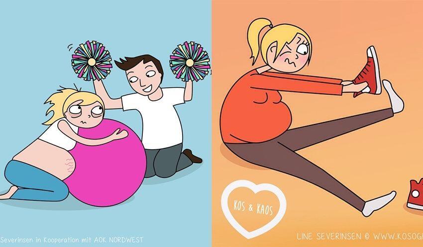 14 Ilustrasi Kocak yang Gambarkan Suka Duka Masa Kehamilan