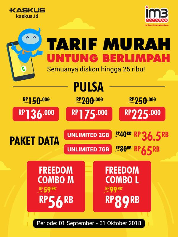 Promo Murah Pulsa dan Paket Data dari Indosat Ooredoo