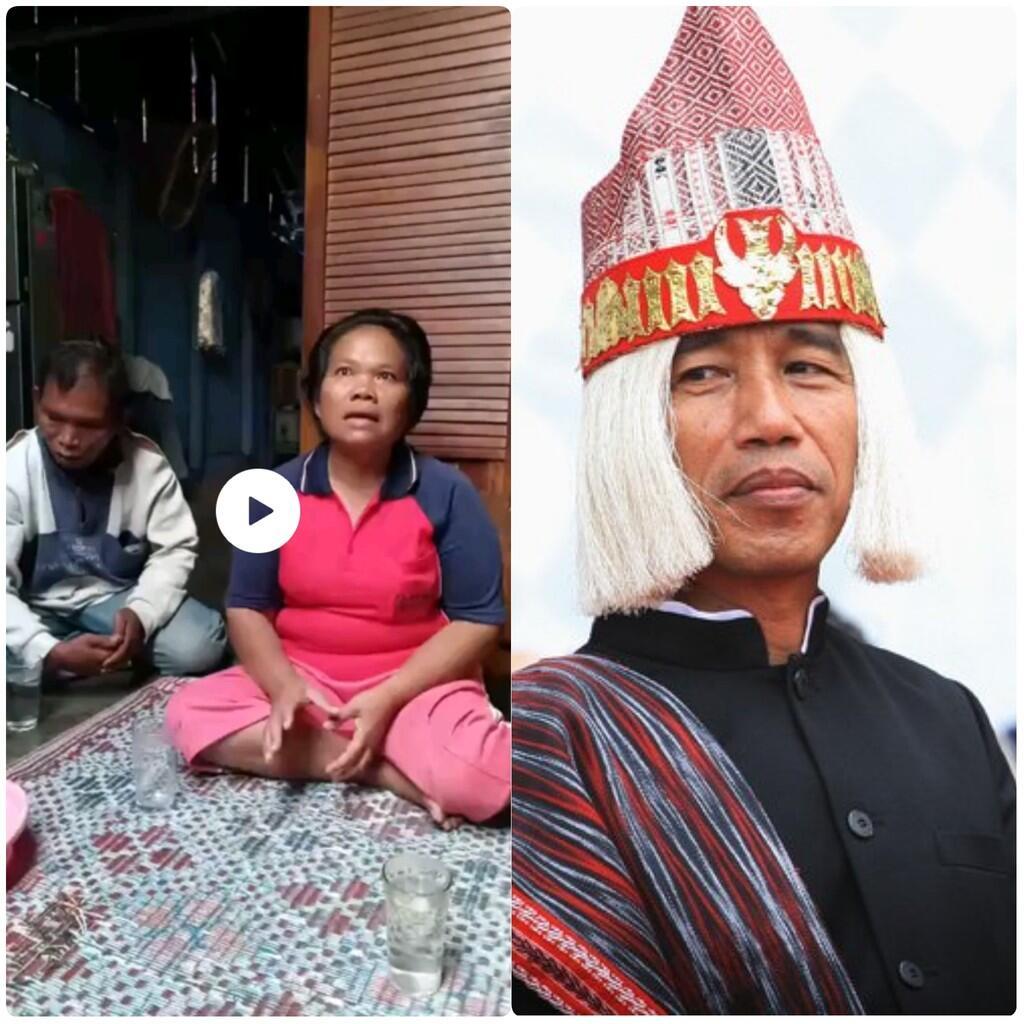 Viralll. Ibu pedagang asongan ciptakan lagu buat Jokowi.